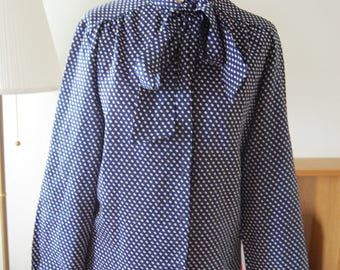 Vintage Polka dot blouse with bow