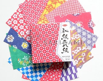 Small colorful Japanese patterned origami paper