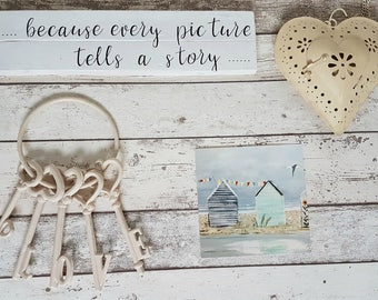 because every picture tells a story....... wood sign quote - House warming, gift, new home, gallery wall, memories