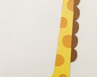 Giraffe Paper Die Cut
