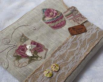 Pochette  pour  sac en lin , rangement pour papier et porte monnaie