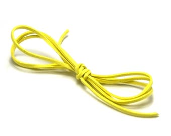 5 meters of Suede, Canary yellow, 2.8 mm x 1, 5mm