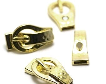"1 magnetic clasp ""belt"" 41 x 24 x 10 mm, gold"