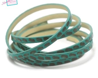 "80 cm leather 5 x 2 mm ""snake"", green"