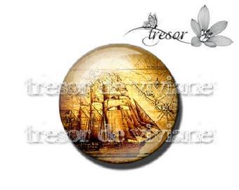 PA445 cabochons glasses, Retro, Totem, Mayan, manual compass, boat, sailing