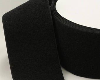 25 m black Velcro width 40 mm