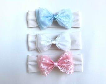 Baby Elsa headband. Baby bow headband. Frozen themed  baby headband.