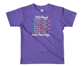 100 Days and Growing Flowers 100th Day of School kids 2-6 t-shirt students teachers gift school milestone celebration education day 100