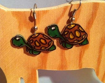 "Designer turtle earring crazy ""Idea Christmas"""