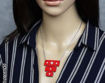 """Necklace collection SYLCO """"FUROA"""" (red/black)"""