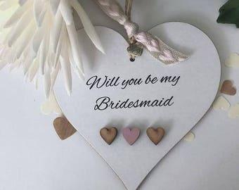 Will You Be My Bridesmaid Heart Gift Keepsake Wedding