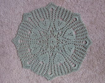 Amore Doily in Sage Green