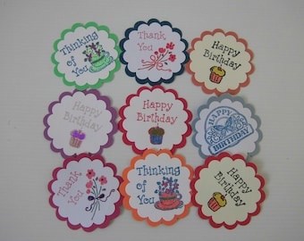 GREETING CARD TOPPERS, Self-Adhesive, Embellishments, Card Making, Scrapbooking, Papercraft