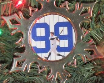 New York Yankees Aaron Judge #99 MLB Personalized Acrylic SnowFlake Ornament *Free Personalization*