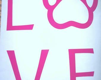 Love Dogs Window Decal