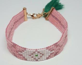 BOHEMIAN bracelet, Boho, Ibiza, woven bracelet, seed beads.