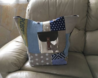 Large tote bag pattern patchwork