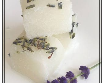 Lavender, Lemon & Ginger with Coconut, Sugar Scrub Cubes