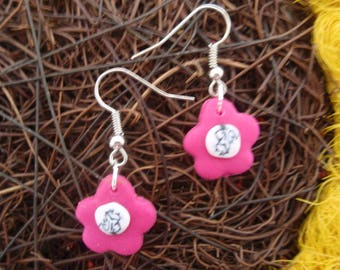 PINK MAXI FLOWER EARRINGS FLORAL COLLECTION