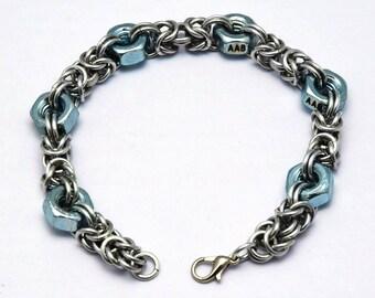 Hex nut Byzantine bracelet