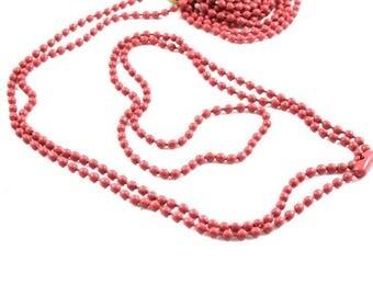 Necklace chain ❤X1 logs rouge❤ 70cm