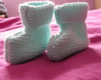blue slippers knit one size