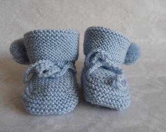 baby girl or boy light blue tassel