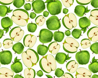 ORIGINAL design, durable and WASHABLE PLACEMAT - Green apples - classic.