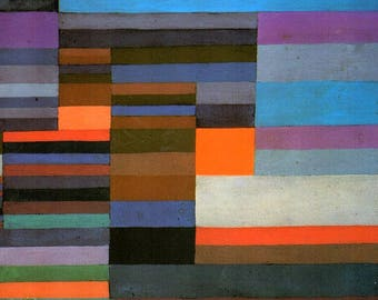 ORIGINAL design, durable and WASHABLE PLACEMAT - PaulKlee - evening fire - classic.