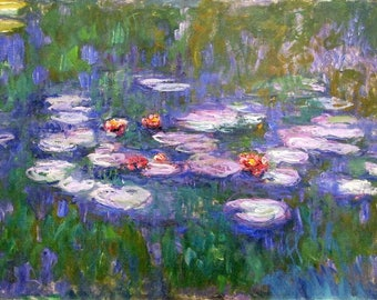 ORIGINAL design, durable and WASHABLE PLACEMAT - Claude Monet - water lilies - classic.