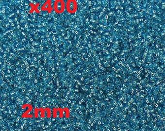Blue seed beads