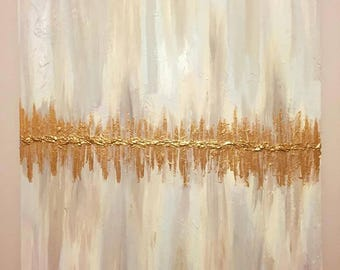 Gold Vision - Textured Goldleaf & Acrylic Abstract