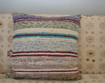 Turkish Rag Rug Pillow