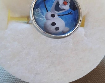 The number 2 snows snowman Cabochon ring