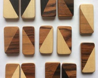 Wooden magnet.