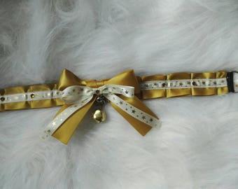 Gold Star Kitten Play Collar Choker