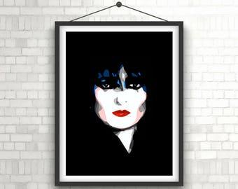 SIOUXSIE SIOUX  |  Goth / Punk Legend  |  Portrait Art Poster Print