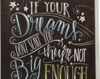 Dream Big Chalkboard Box Sign