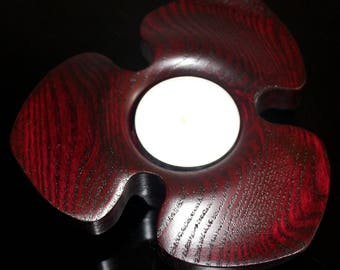 "Candle holder red ""flower"""