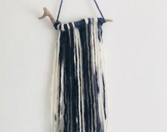 BOHO | Handmade Wall Hanging | Bespoke | Wall Decor | Home Accessories | Driftwood | 100% Merino Wool