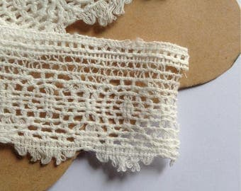 Strip of lace cotton 70 cm