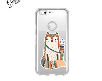 Google Pixel Case, fox,google pixel xl case,fox case,Clear Pixel Case,Clear Pixel XL Case,google Pixel XL,phone case,pixel xl fox case