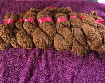 Pure natural handspun alpaca Cria fibre