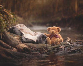 Newborn Rivers Edge with Ted Newborn Photography Digital Backdrop