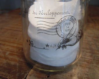 "Candle glass industrial sticker ""calculation development"" shabby postage"