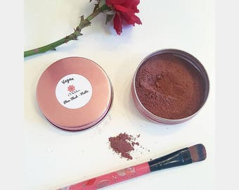 100% Vegan Matte Clay Plum Blush, Non-Toxic, Chemical-Free, All Natural, Non-Harmful, Mineral Makeup, Made with Love