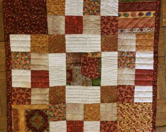 Square patchwork quilt handmade