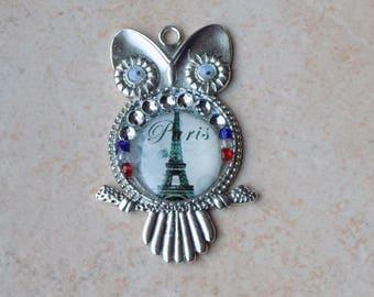 OWL pendant in the colors of Paris
