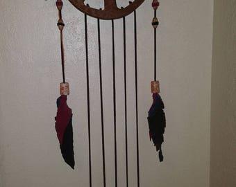 Handmade peace sign dreamcatcher