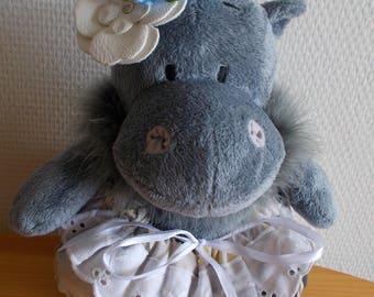 "Plush Lavender ball ""GLORIA"" for Cabinet or decoration"